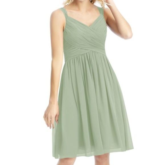 Azazie Dresses & Skirts - Azazie Mikaela Dress - Dusty Sage, Size 4